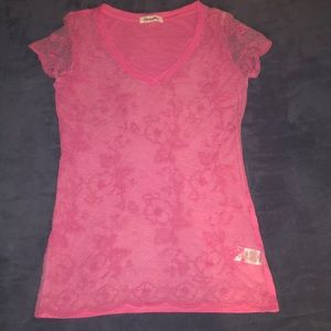 Women's Pink Mesh Front Aeropostale Blouse